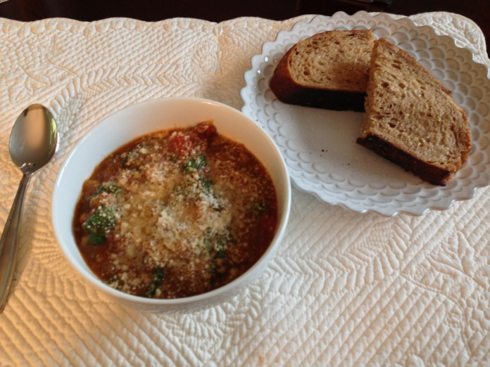 Soup and bread