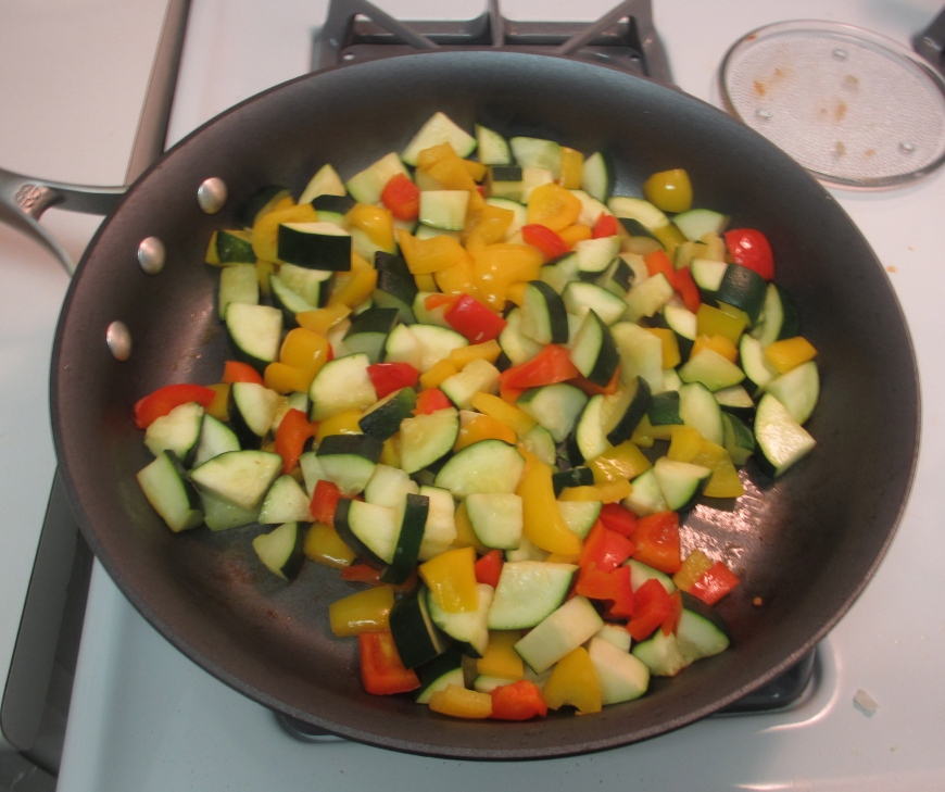 Zucchini and bell peppers