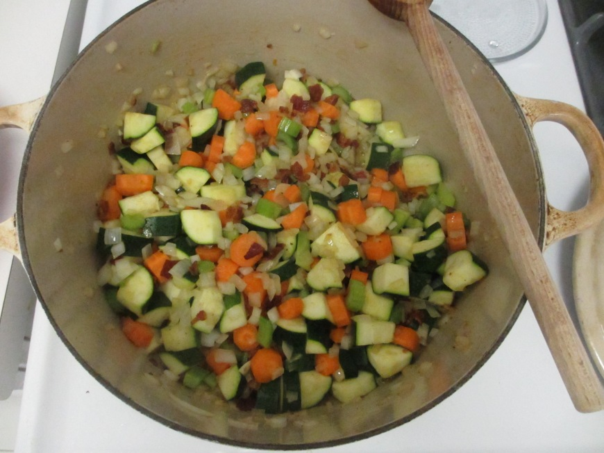Veggies in the pot
