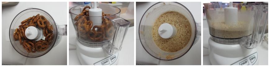 Making pretzel crumbs