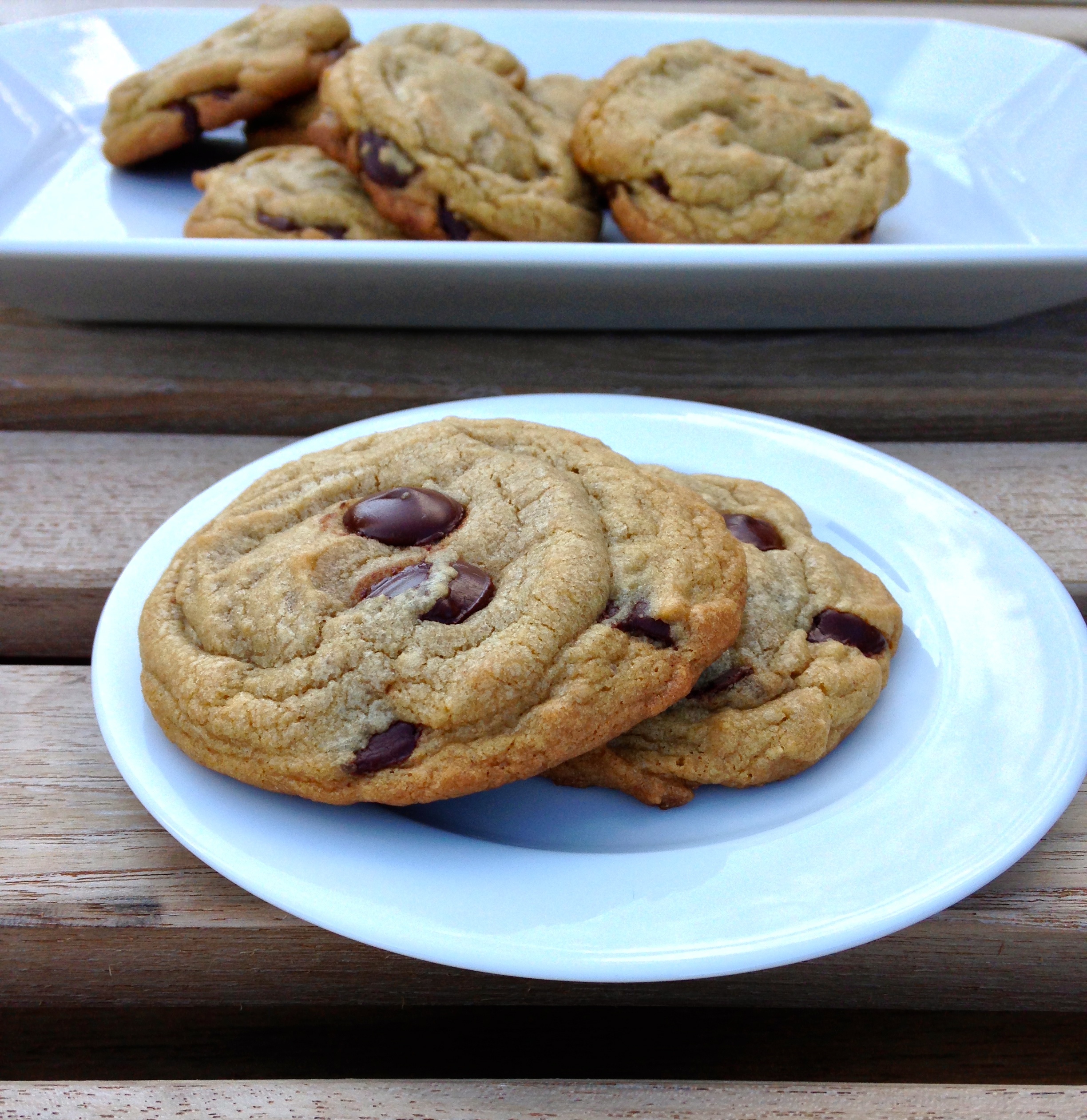 Perfect Chocolate Chip Cookies, made with browned butter | ChezCateyLou.com