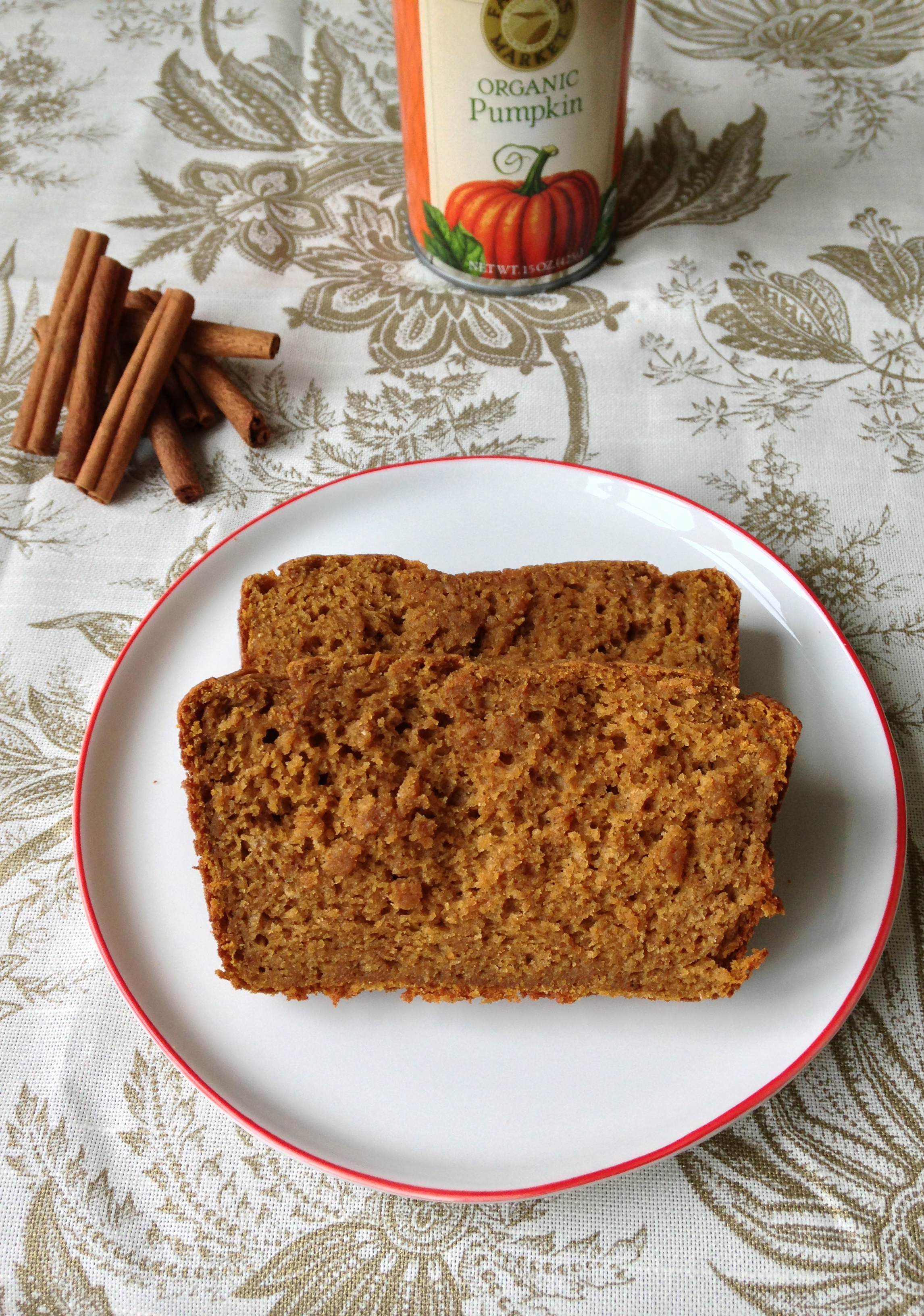 Pumpkin Yogurt Bread - skinny, healthy, and delicious! | ChezCateyLou.com