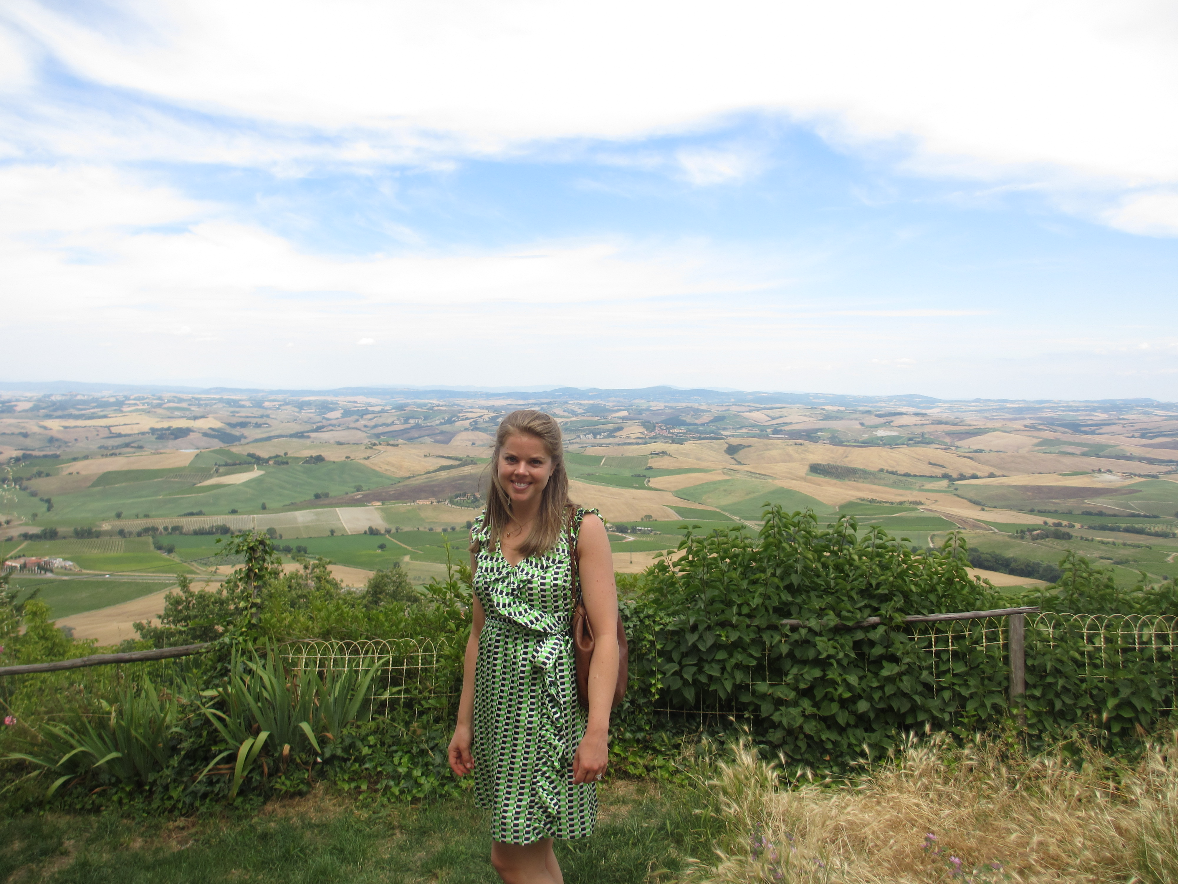 View from Montalcino town