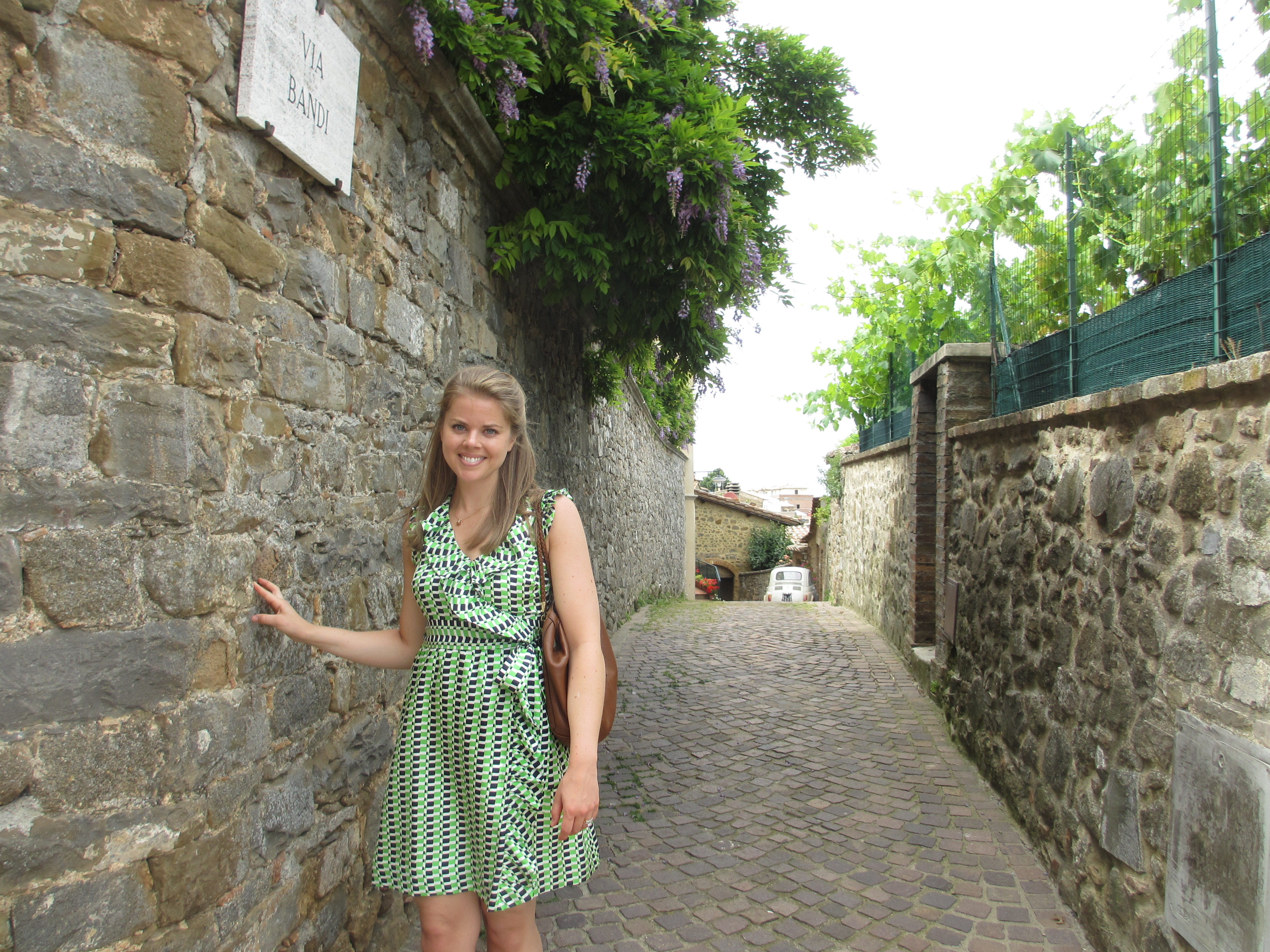 On the backstreets of Montalcino