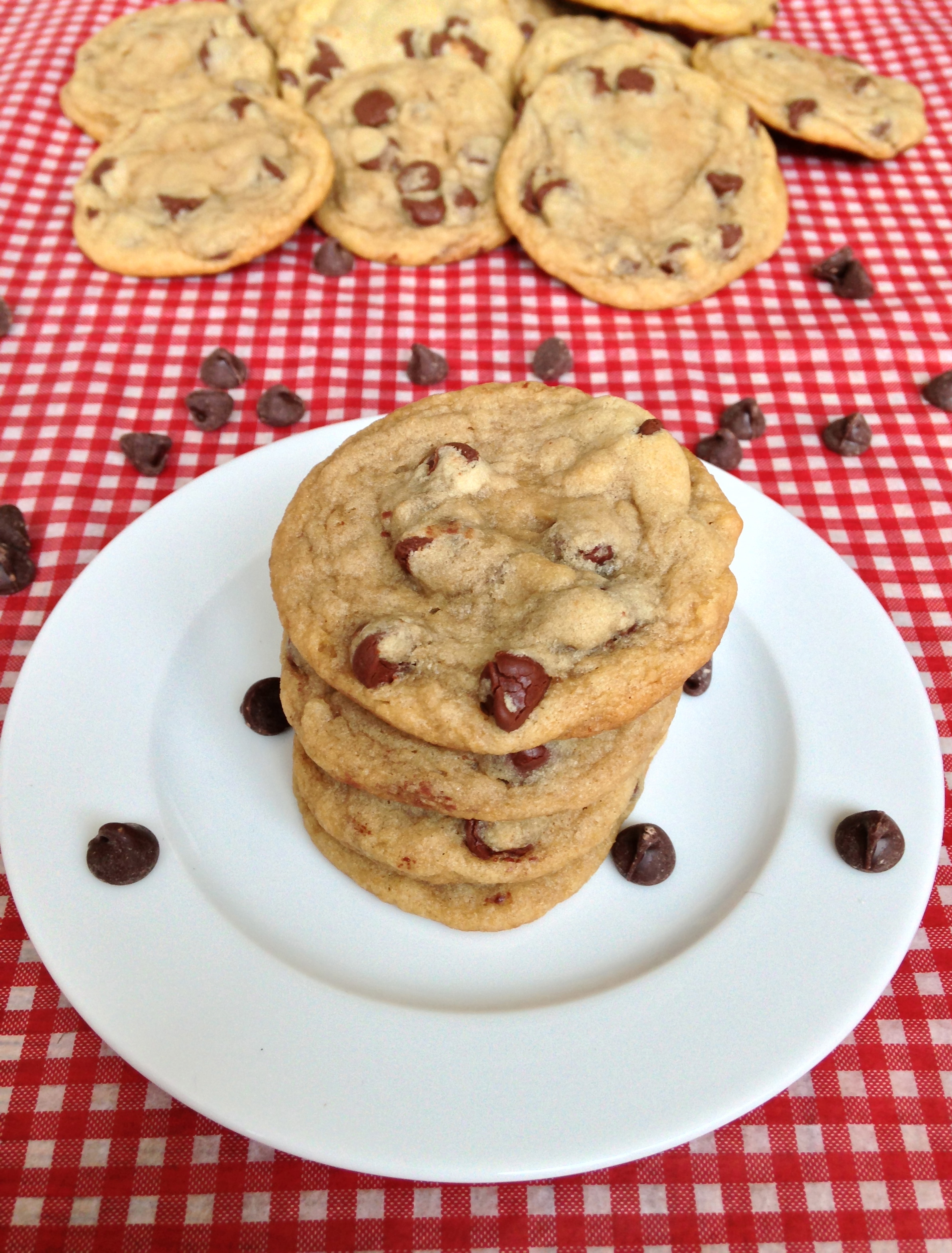 Chocolate Chip Cookies - made using cornstarch - Chez CateyLou