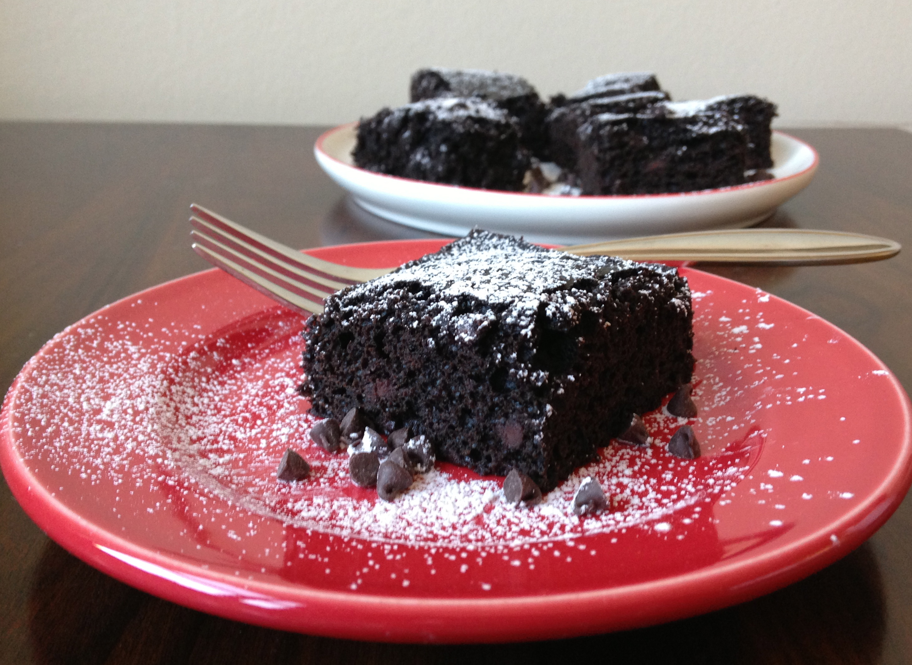 Skinny Chocolate Cake Made With Greek Yogurt