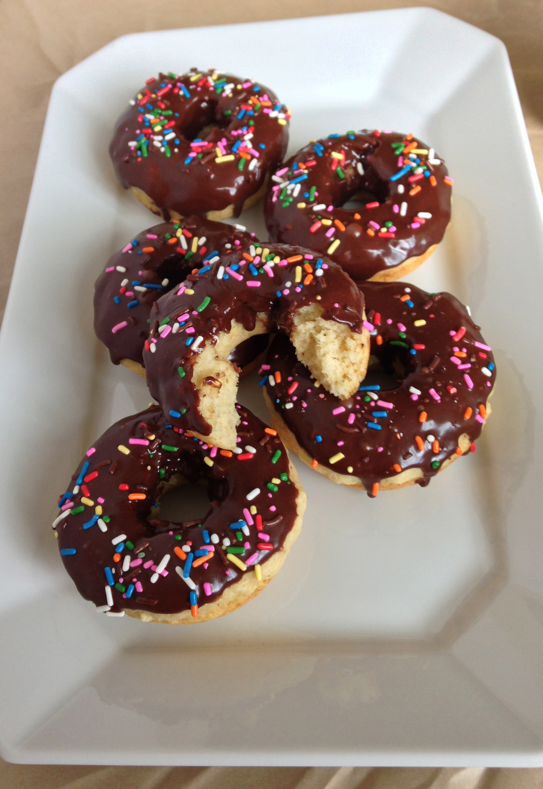 Brown Butter Baked Doughnuts With Chocolate Icing Chez