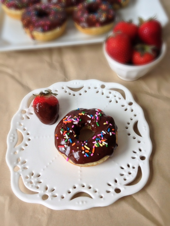 Brown Butter Baked Doughnuts with Chocolate Icing