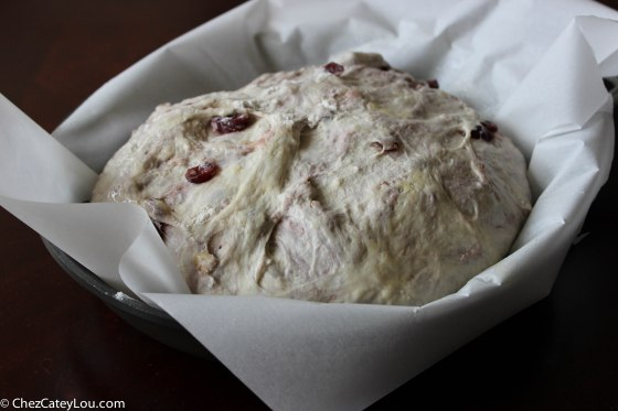 No-Knead Cranberry Walnut Bread | chezcateylou.com