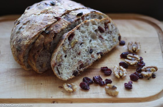 No-Knead Cranberry Walnut Bread1
