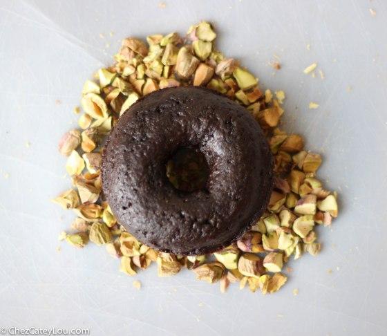 Double Chocolate Pistachio Doughnut | chezcateylou.com