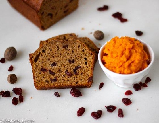 Sweet Potato Cranberry Quick Bread | chezcateylou.com