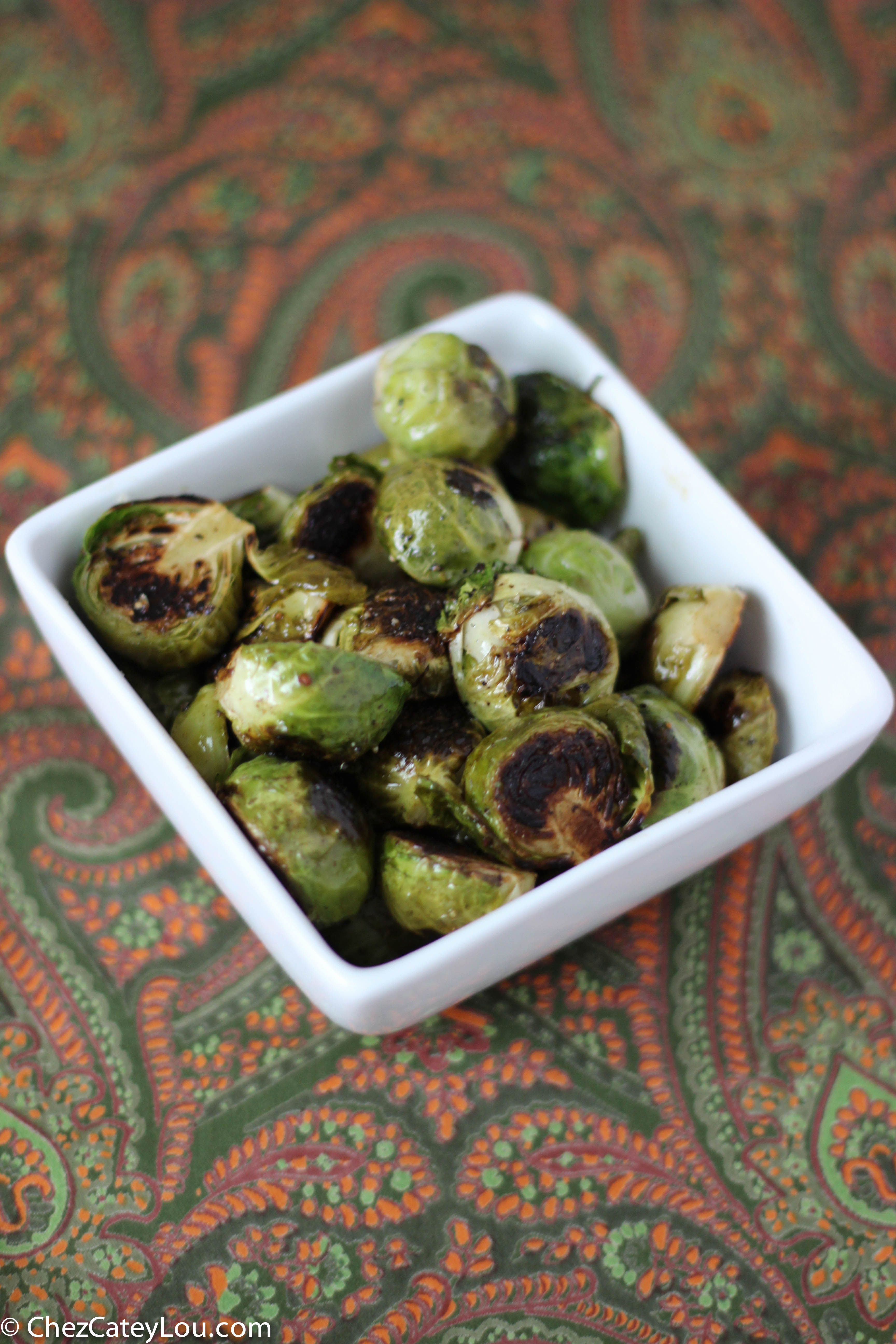 Sherry Charred Brussels Sprouts | chezcateylou.com