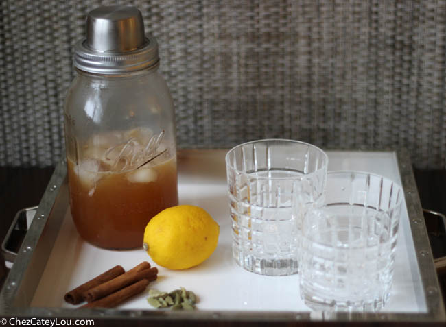 Thanksgiving Punch, a rum based cocktail perfect for Thanksgiving!    ChezCateyLou.com