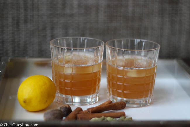 Thanksgiving Punch, a rum based cocktail perfect for Thanksgiving!  | ChezCateyLou.com