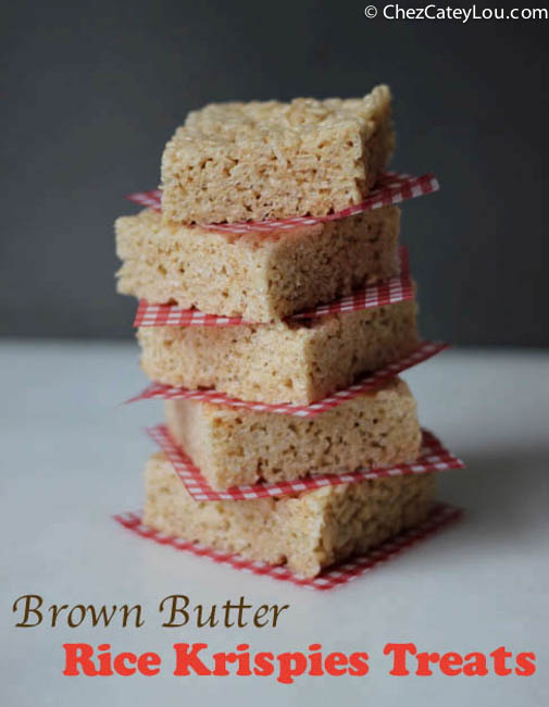 Brown Butter Rice Krispies Treats | chezcateylou.com