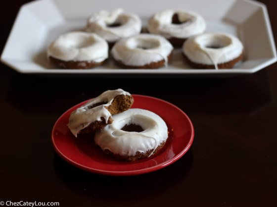 Gingerbread Donuts | ChezCateyLou.com