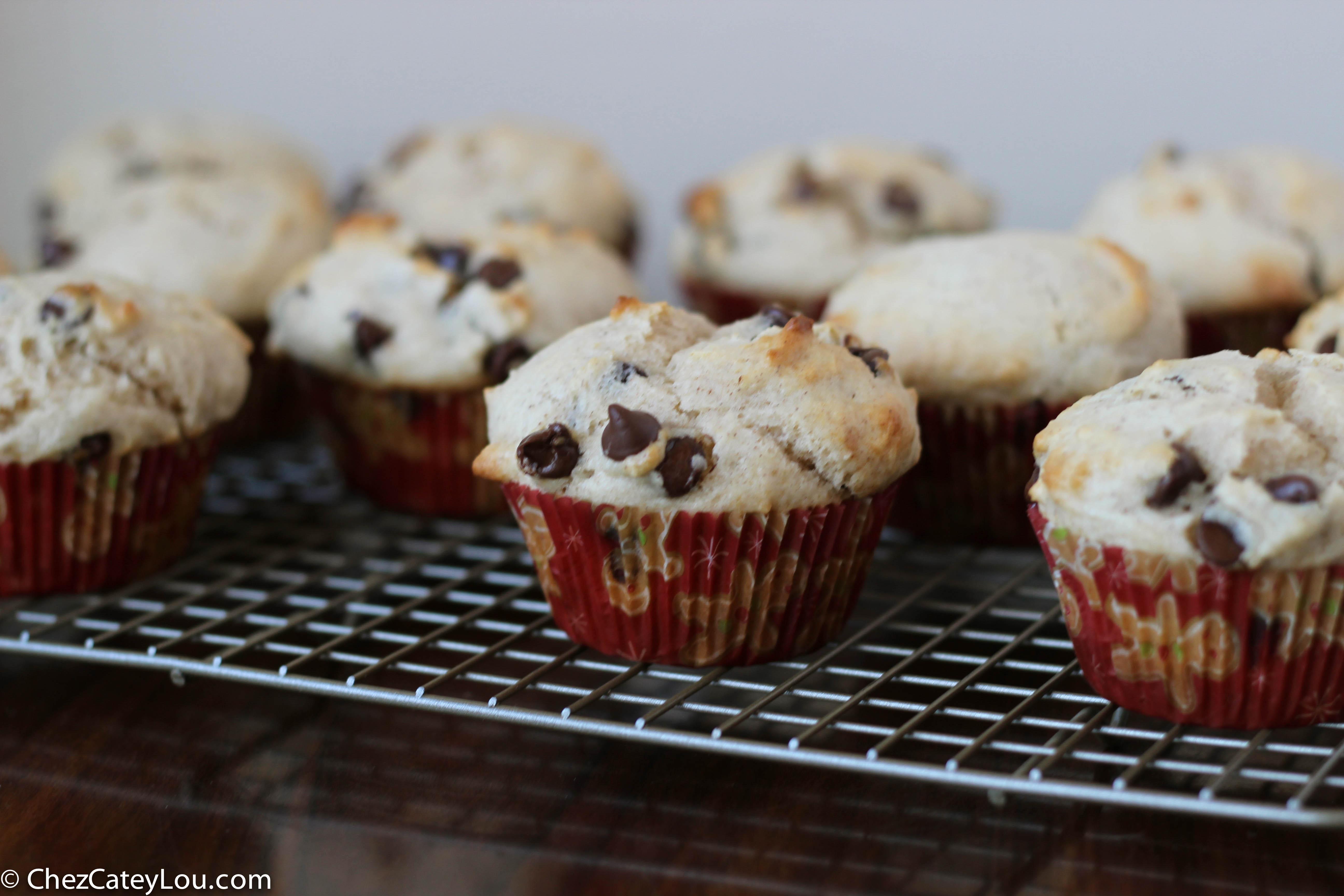 Chocolate Chip Cinnamon Muffins | ChezCateyLou.com